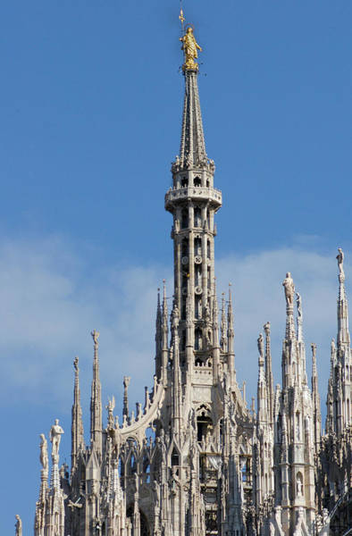 Wall Art - Photograph - The Spire Of Milan Cathedral by Francesco Croce