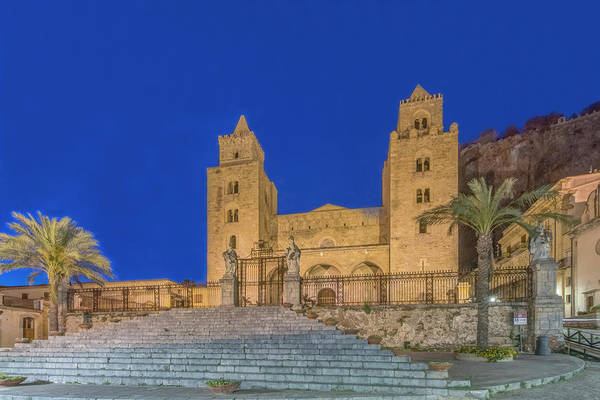 Wall Art - Photograph - Italy, Sicily, Cefalu, Cefalu Cathedral by Rob Tilley