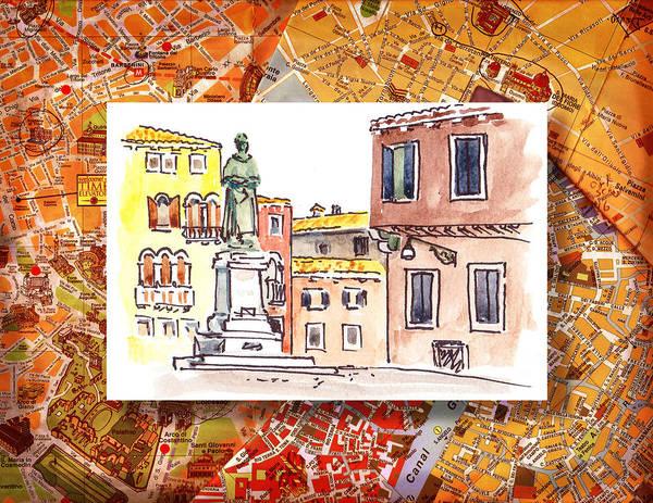 Sketching Painting - Italy Sketches Venice Piazza by Irina Sztukowski