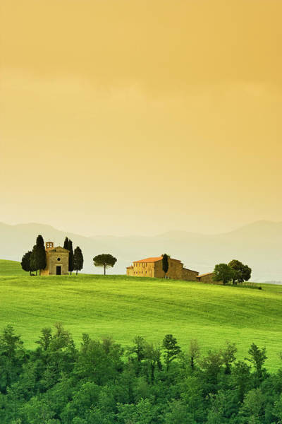 Villa D Wall Art - Photograph - Italy, Tuscany Landscape With Church by Jaynes Gallery