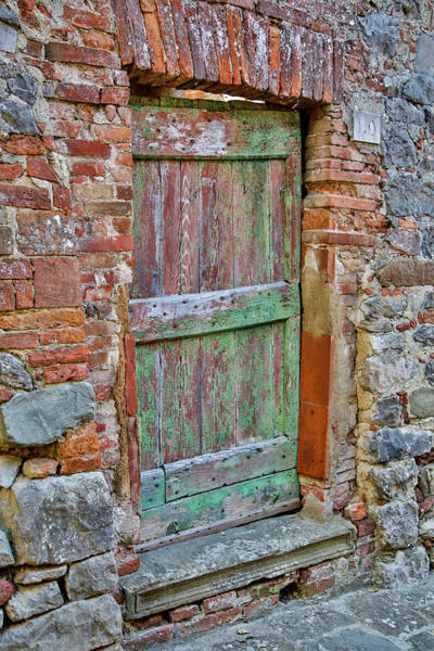 Wall Art - Photograph - Italy, Tuscany, Old Doorway by Hollice Looney