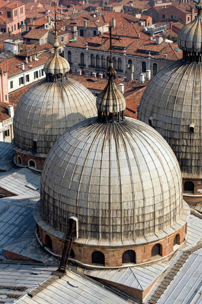 St Mark's Basilica Photograph - Italy, Venice Looking Down On The Domes by Jaynes Gallery