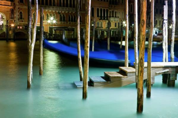 Emotion Photograph - Italy, Venice, Wooden Pontoon For by Cédric