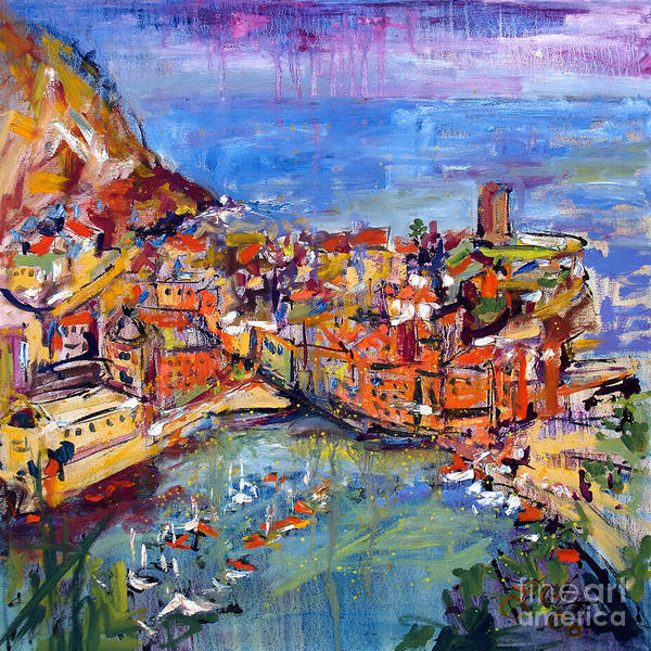 Painting - Italy Vernazza Cinque Terre by Ginette Callaway