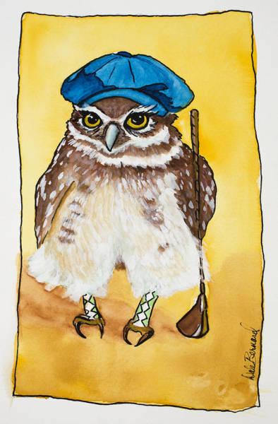 Painting - It's A Birdie Let's Celebrate by Dale Bernard