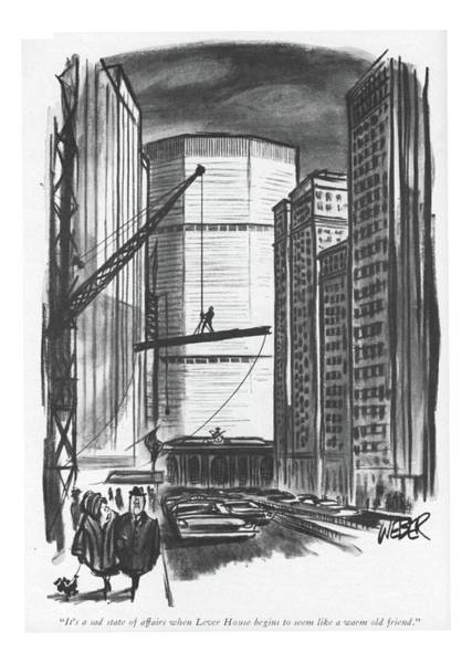 Drawing - It's A Sad State Of Affairs When Lever House by Robert Weber