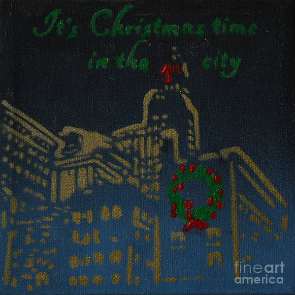 It's Christmas Time In The City Art Print