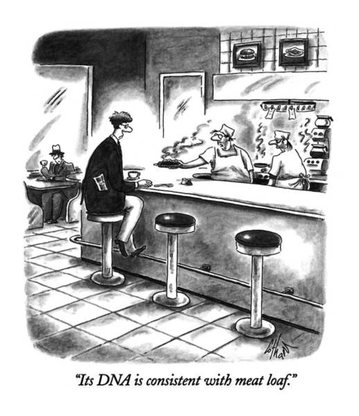 Dna Drawing - Its Dna Is Consistent With Meat Loaf by Frank Cotham