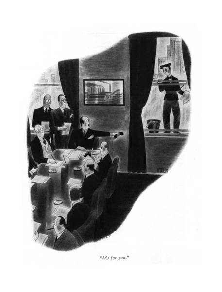Chairman Of The Board Drawing - It's For You by Richard Taylor