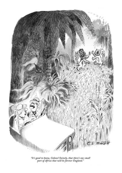 Foreigners Drawing - It's Good To Know by Charles E. Martin