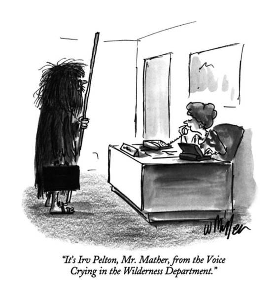 August 5th Drawing - It's Irv Pelton by Warren Miller