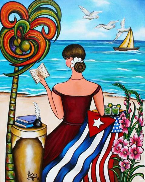 Cuban Painting - It's My Turn by Annie Maxwell