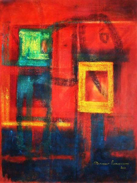 Wall Art - Painting - It's My Window by Benedict Olorunnisomo