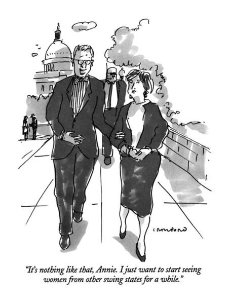 Capitol Drawing - It's Nothing Like That by Michael Crawford