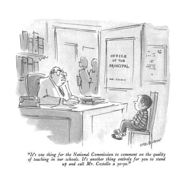 Commissioned Drawing - It's One Thing For The National Commission by James Stevenson