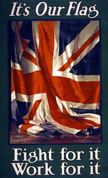 Recruitment Painting - It's Our Flag by Guy Lipscombe