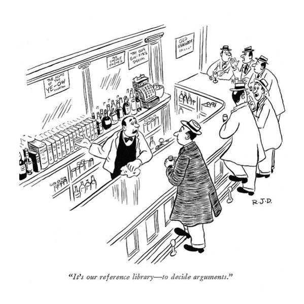 November 25th Drawing - It's Our Reference Library - To Decide Arguments by Robert J. Day