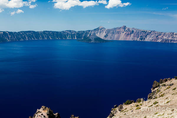 Crater Lake Np Photograph - It's Really That Blue - 2 by Dan Hartford