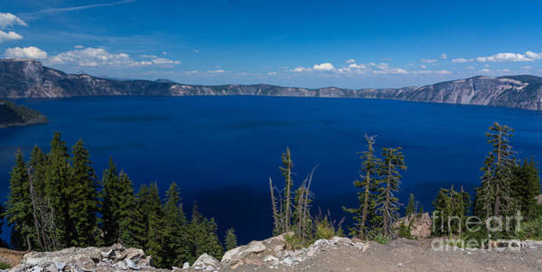 Crater Lake Np Photograph - It's Really That Blue - 3 by Dan Hartford