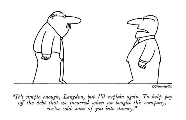 Morality Wall Art - Drawing - It's Simple Enough by Charles Barsotti