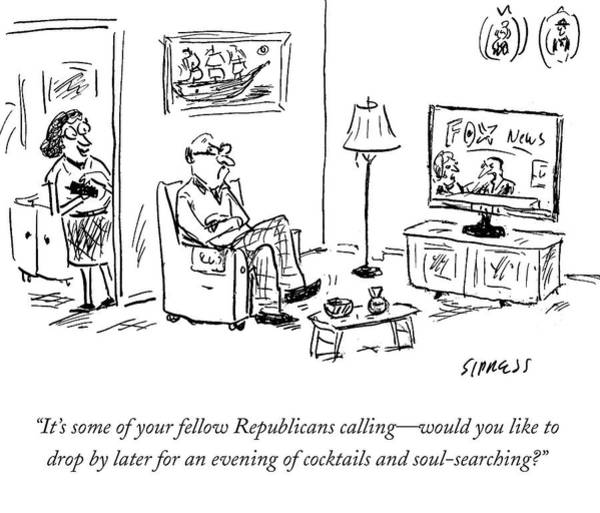 Wall Art - Drawing - It's Some Of Your Fellow Republicans Calling by David Sipress