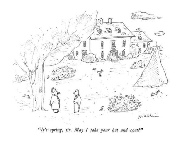 Mansion Drawing - It's Spring by Michael Maslin