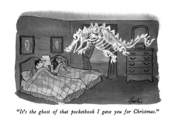 Ghosts Drawing - It's The Ghost Of That Pocketbook I Gave by Edward Frascino