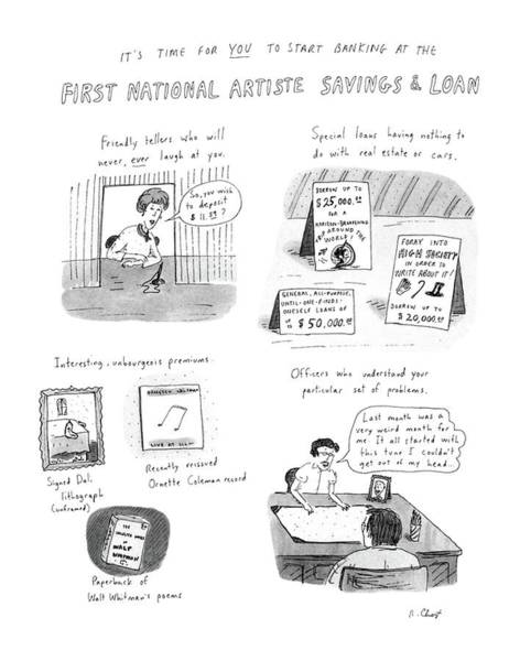 Saving Drawing - It's Time For You To Start Banking At The First by Roz Chast