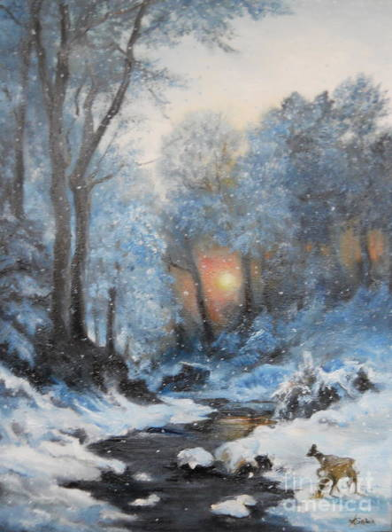 Wall Art - Painting - It's Winter by Sorin Apostolescu