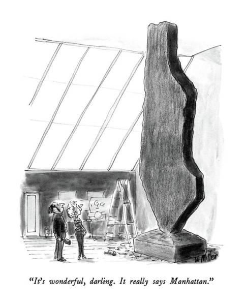 Manhattan Drawing - It's Wonderful by Warren Miller