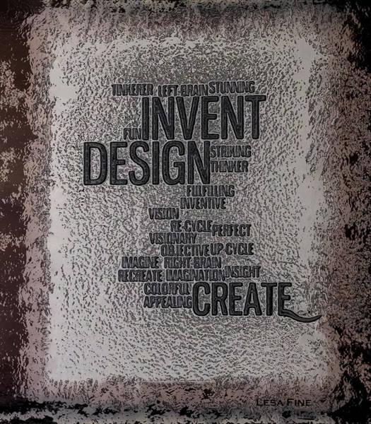 Subjective Digital Art - Its Written In Stone So Create by Lesa Fine