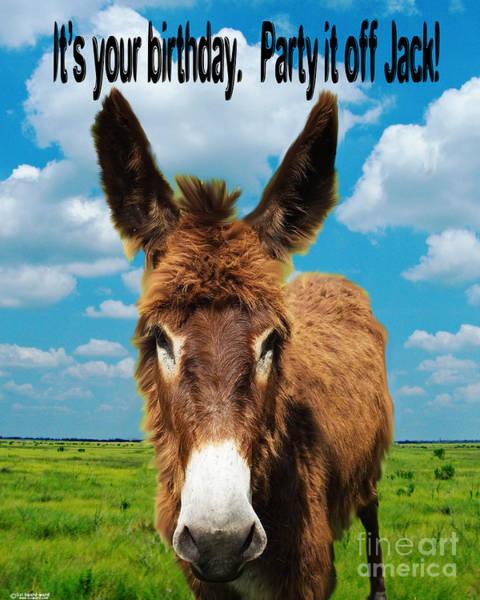 Digital Art - It's Your Birthday Jack by Lizi Beard-Ward