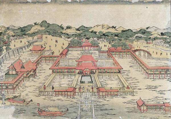 Painting - Itsukushima Shrine, C1780 by Granger