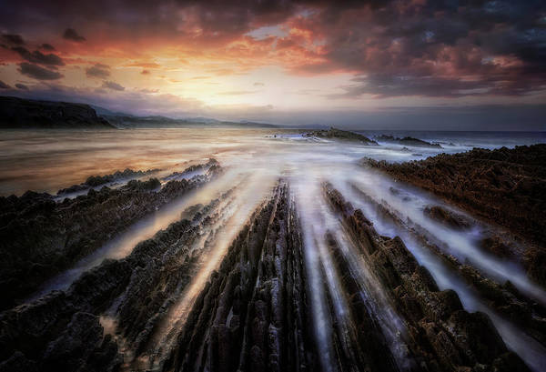 Wall Art - Photograph - Itzurun Flysch by Fran Osuna