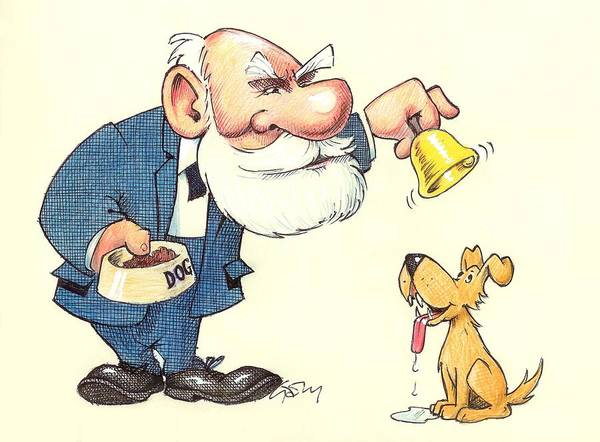 Photograph - Ivan Pavlov Caricature by Science Photo Library