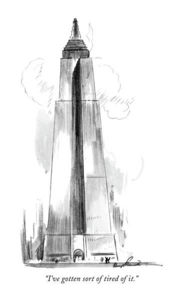 Skyscrapers Drawing - I've Gotten Sort Of Tired Of It by Kemp Starrett