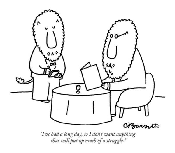 Long Day Drawing - I've Had A Long Day by Charles Barsotti