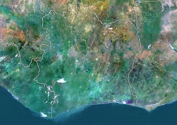 Ghana Wall Art - Photograph - Ivory Coast by Planetobserver/science Photo Library
