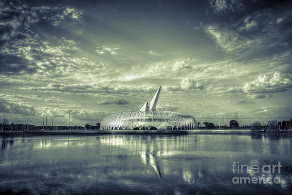 Santiago Calatrava Photograph - Ivory Tower Of Knowledge- Split Tone by Marvin Spates