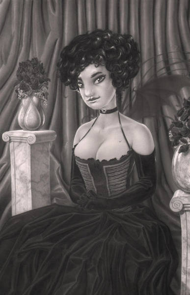 Twilight Drawing - Ivy by Richard Moore
