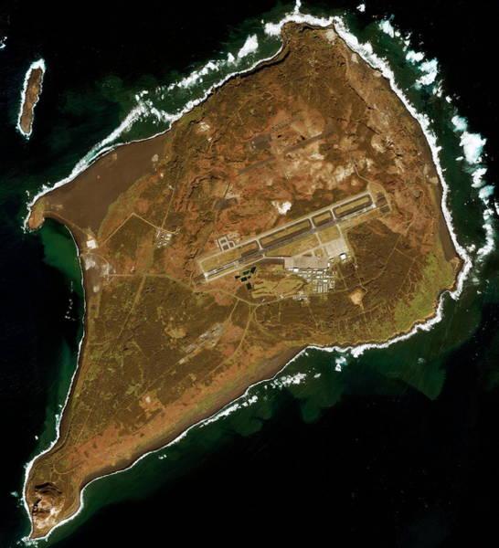 Battleground Photograph - Iwo Jima by Geoeye/science Photo Library
