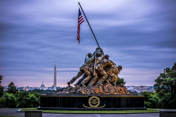 Us Marines Photograph - Iwo Jima Monument by David Morefield
