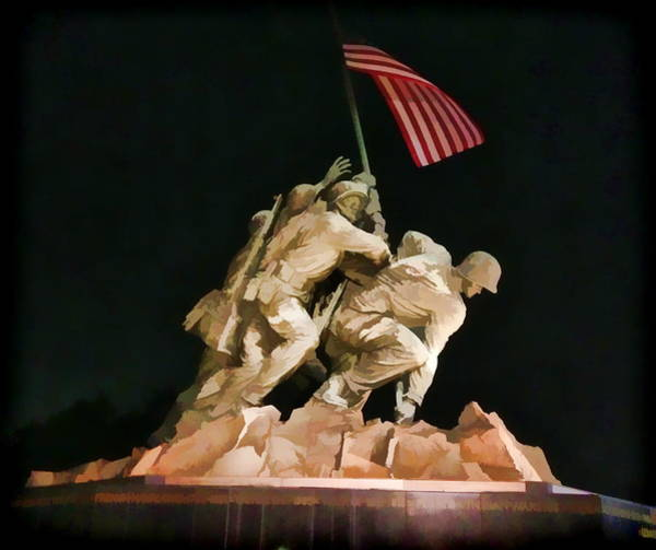Photograph - Iwo Jima Soldiers by Alice Gipson
