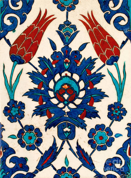 Glazed Tiles Photograph - Iznik 03 by Rick Piper Photography