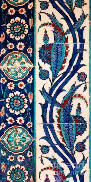 Glazed Tiles Photograph - Iznik 08 by Rick Piper Photography