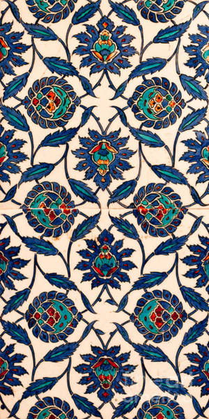 Glazed Tiles Photograph - Iznik 09 by Rick Piper Photography