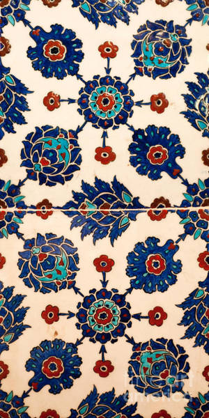 Glazed Tiles Photograph - Iznik 10 by Rick Piper Photography