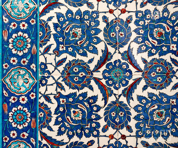 Glazed Tiles Photograph - Iznik 12 by Rick Piper Photography