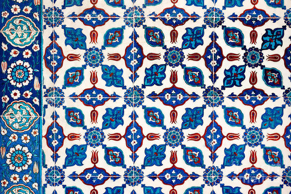 Glazed Tiles Photograph - Iznik 14 by Rick Piper Photography