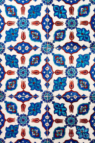 Glazed Tiles Photograph - Iznik 15 by Rick Piper Photography